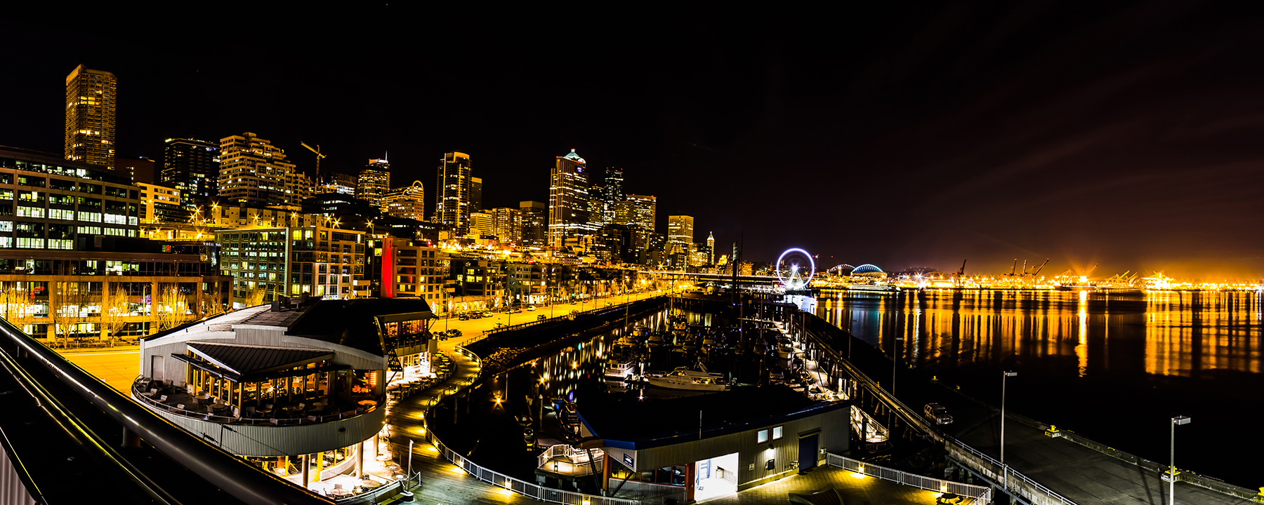 Seattle Skyline from the Bell Harbor Marina