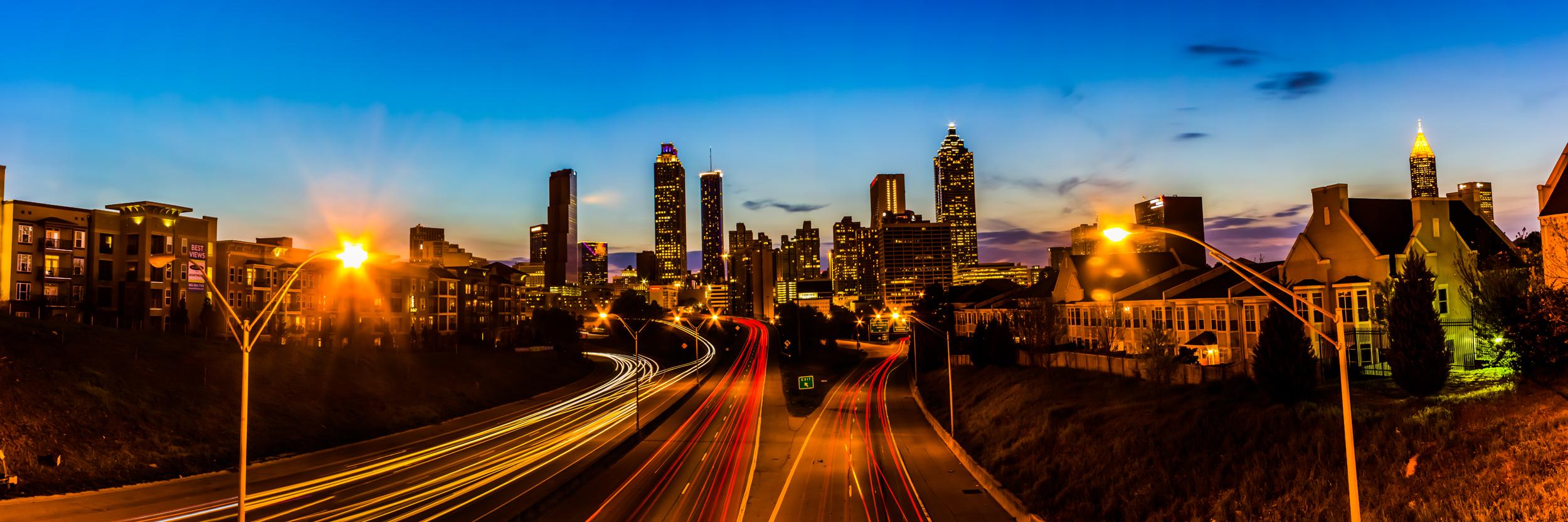 Atlanta Skyline from the Jackson Street Bridge at Sunset