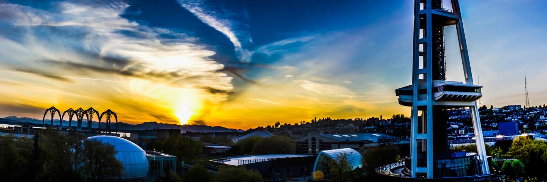 Seattle Sunset from Fischer Plaza