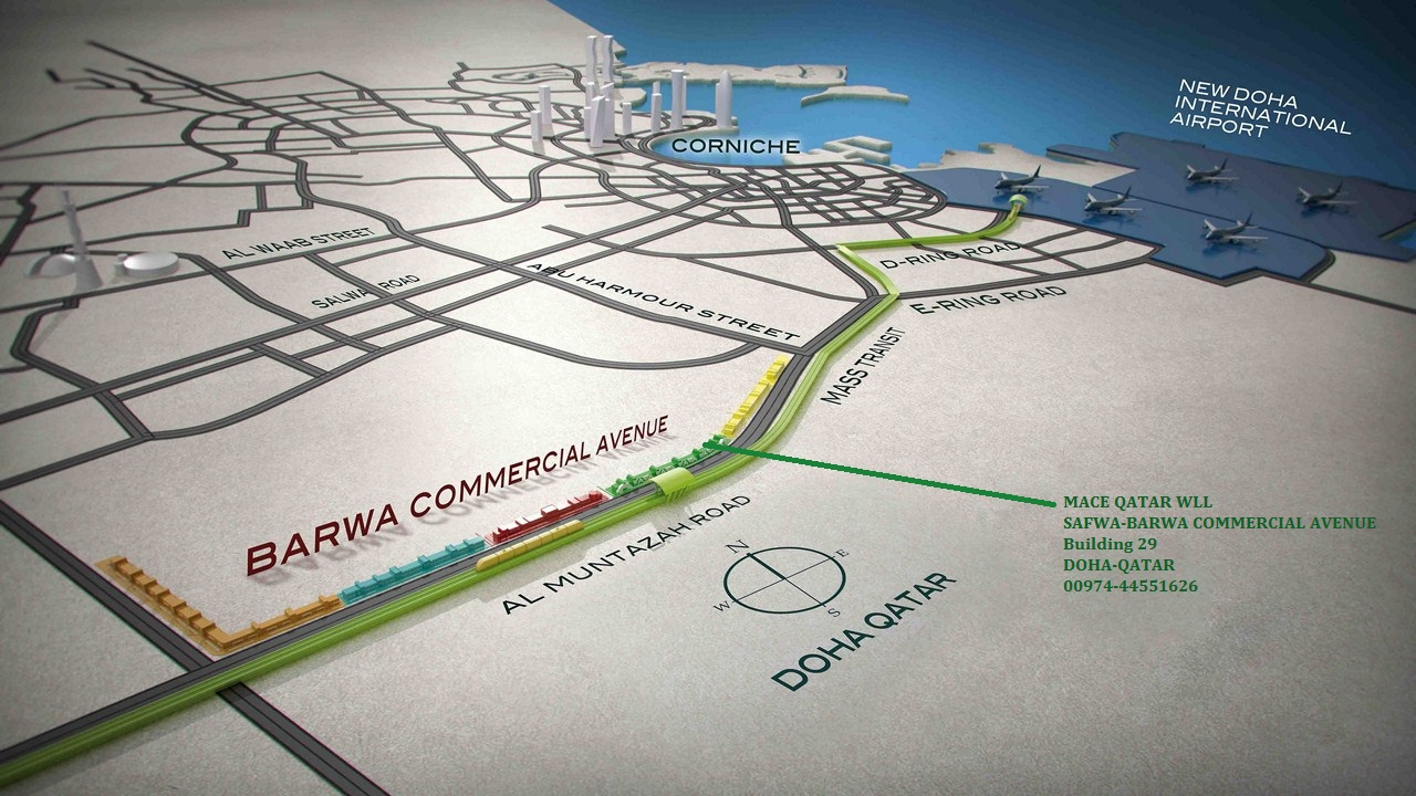 Map to new Office Location at BARWA Commercial Avenue