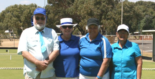 The victorious Blue Team, l-r Ken Morris, Maureen Edwards, Margaret Stokes and Ruth Shave.