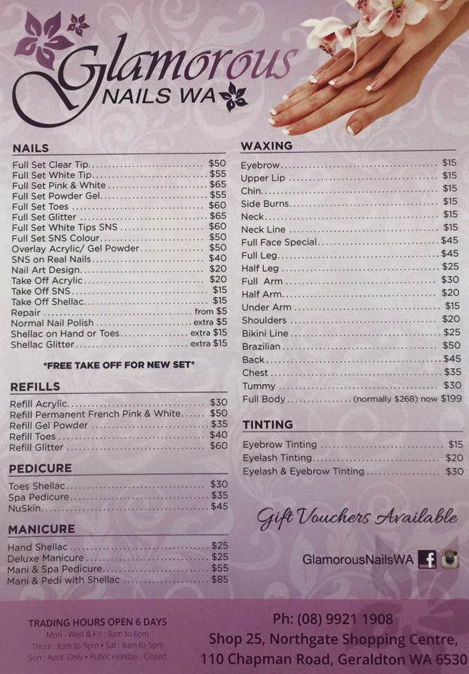 Glamorous Nails now open at Northgate Shopping Centre