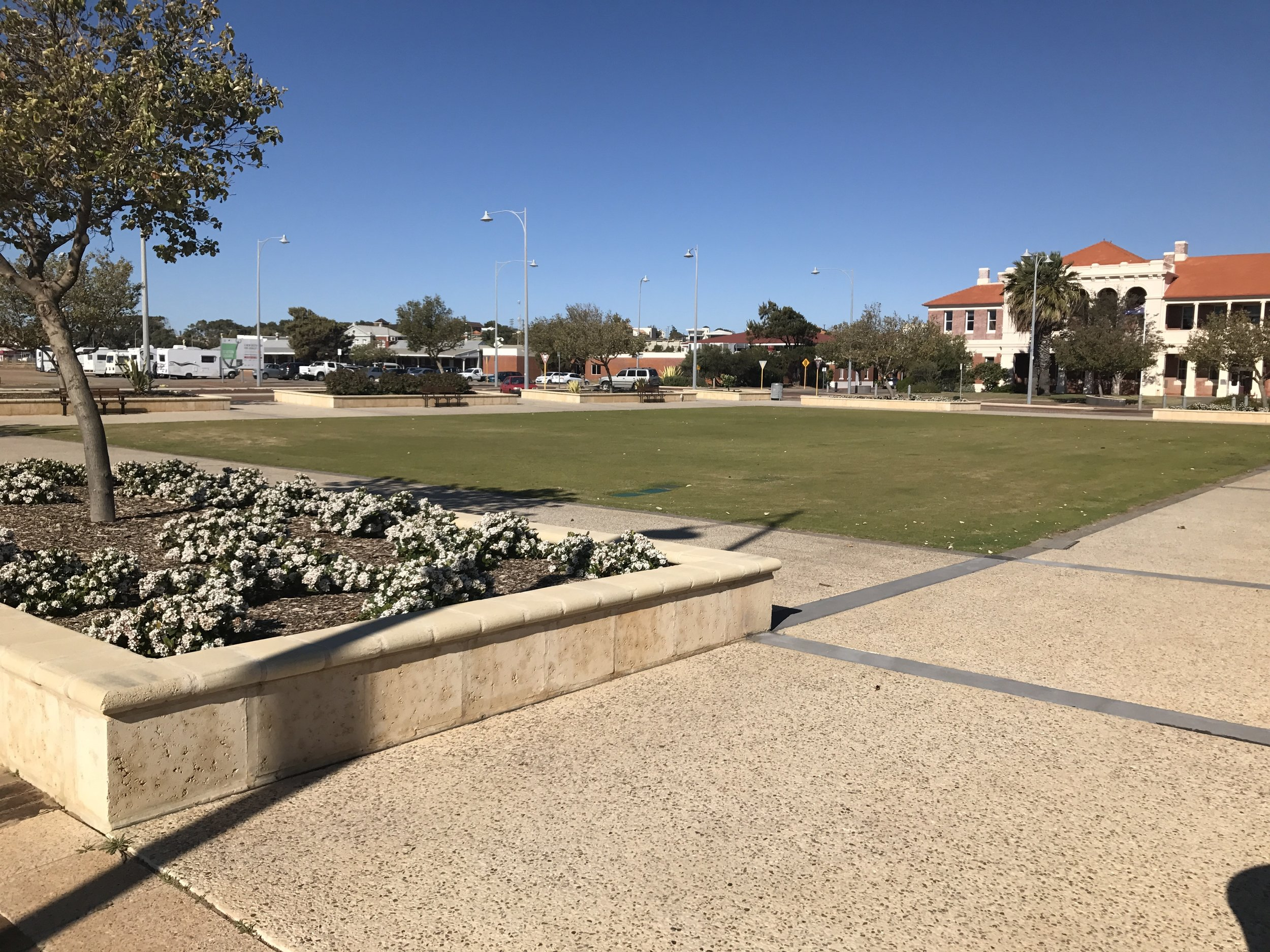 Edith Cowan Square is located in front of the Courthouse.
