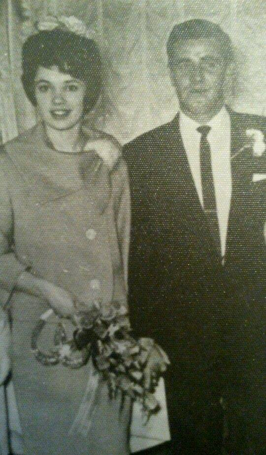 David Kerry Evans and Gill Evans on wedding day