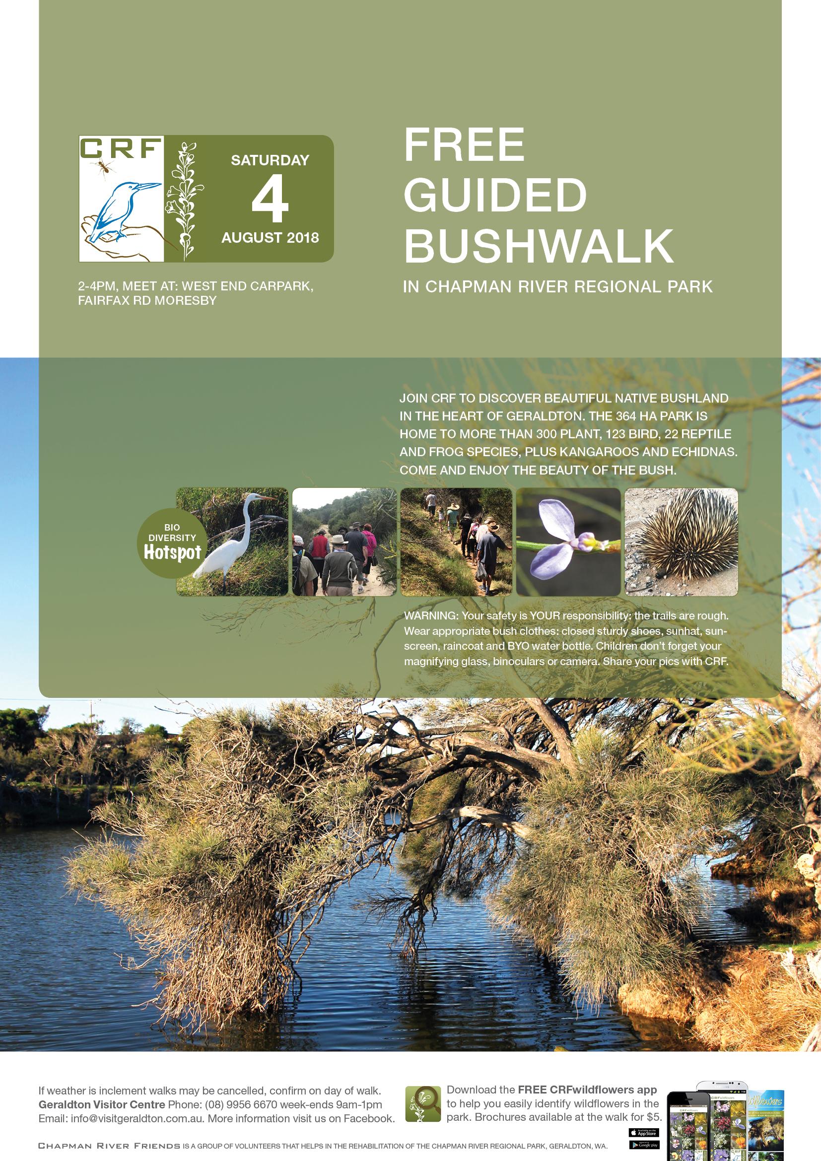 CRF FREE Guided Bushwalk Chapman River Regional Park