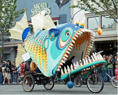 A giant kinetic sculpture in the form of a colourful lionfish joins the program for this year's Wind on Water Festival.