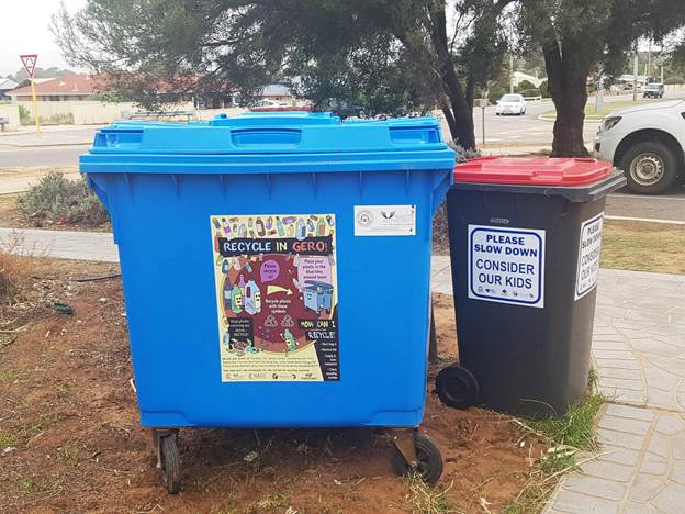 The community is being urged to use the blue plastic recycling bins properly.
