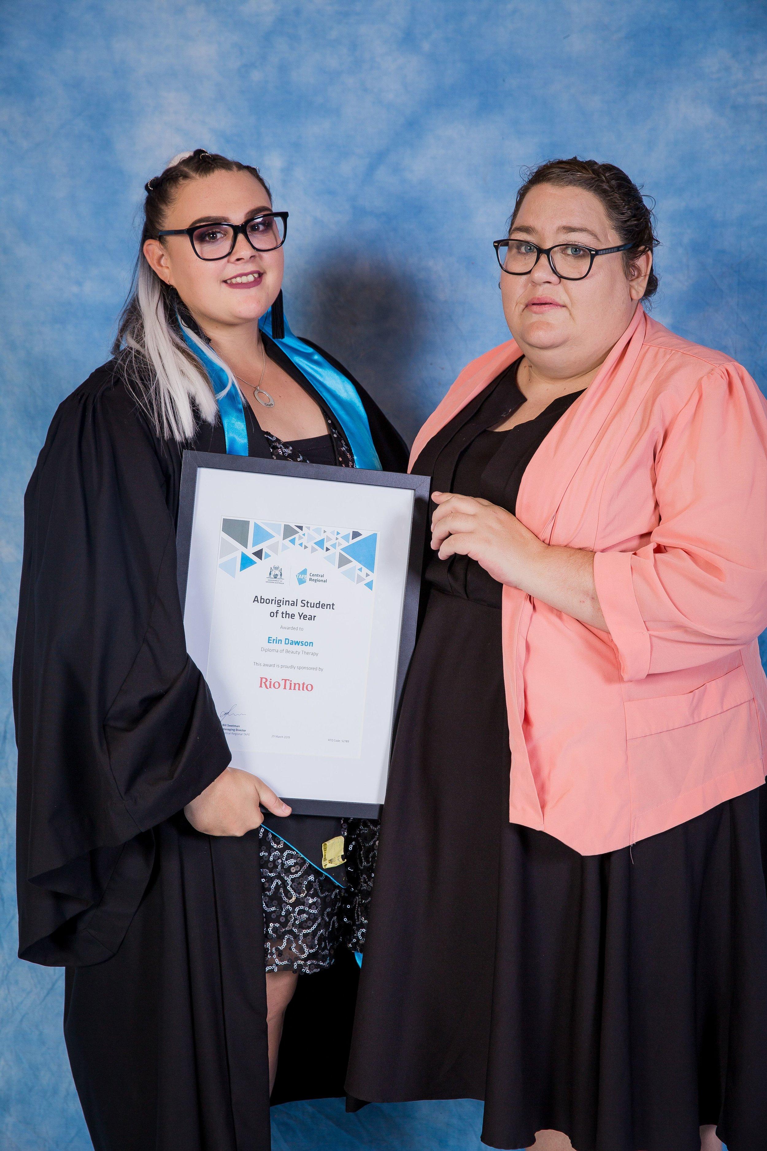 Rio Tinto Aboriginal Student of the Year, Erin Dawson