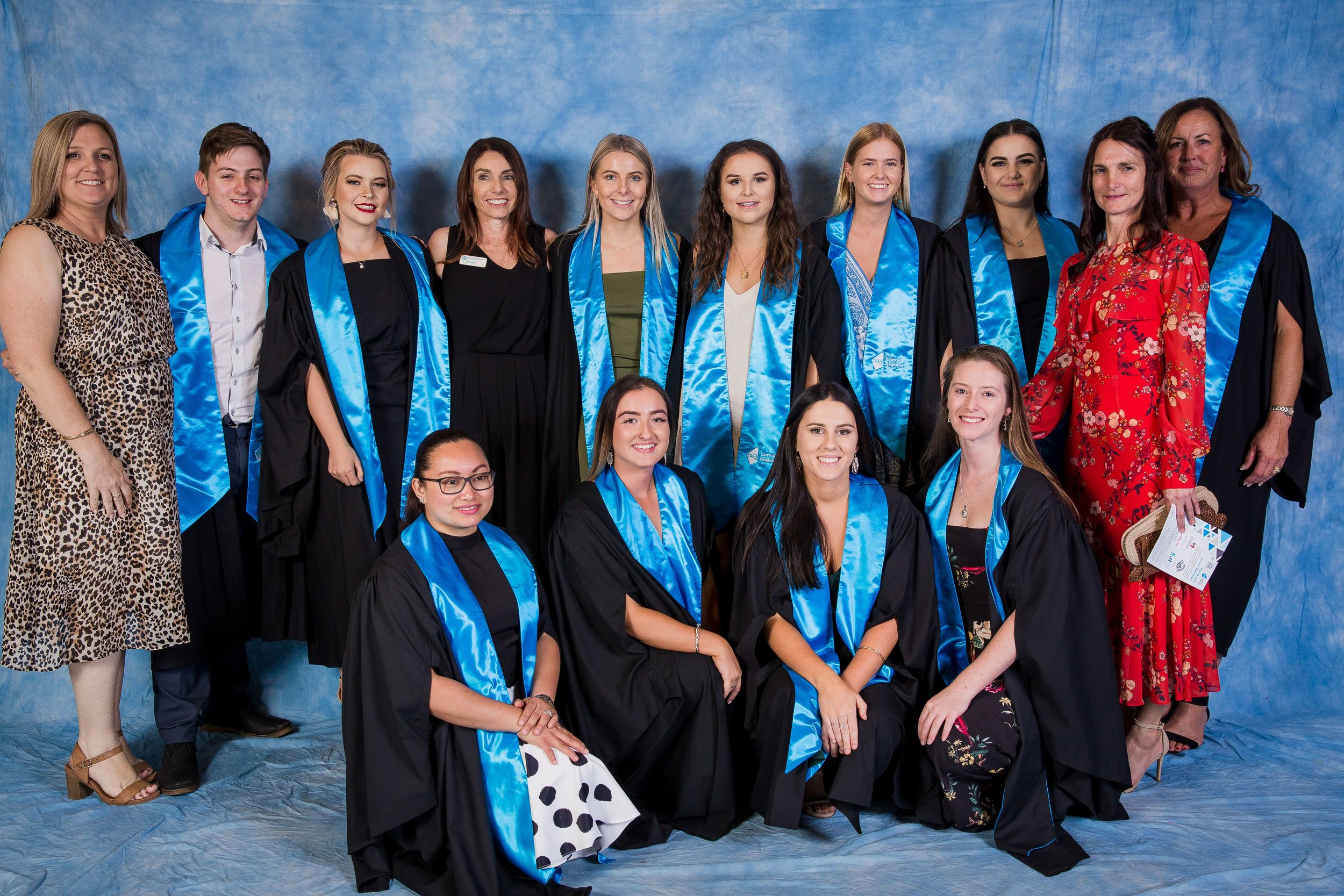 Nursing students with lecturers