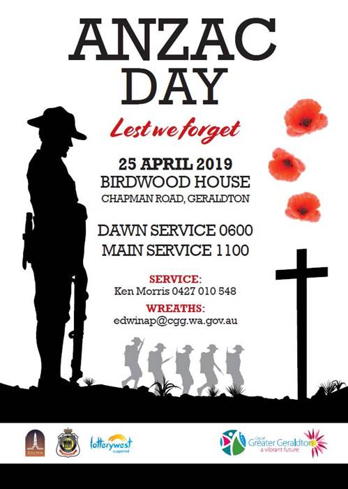 Thousands are expected to gather for ANZAC Day services in Geraldton.