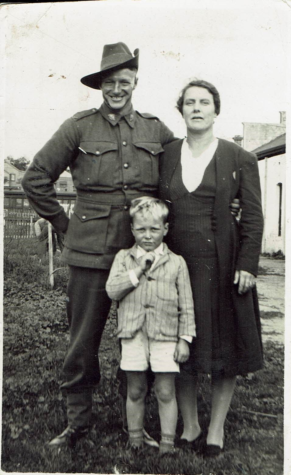 Hugh Dutton with his wife Emily and son Alan
