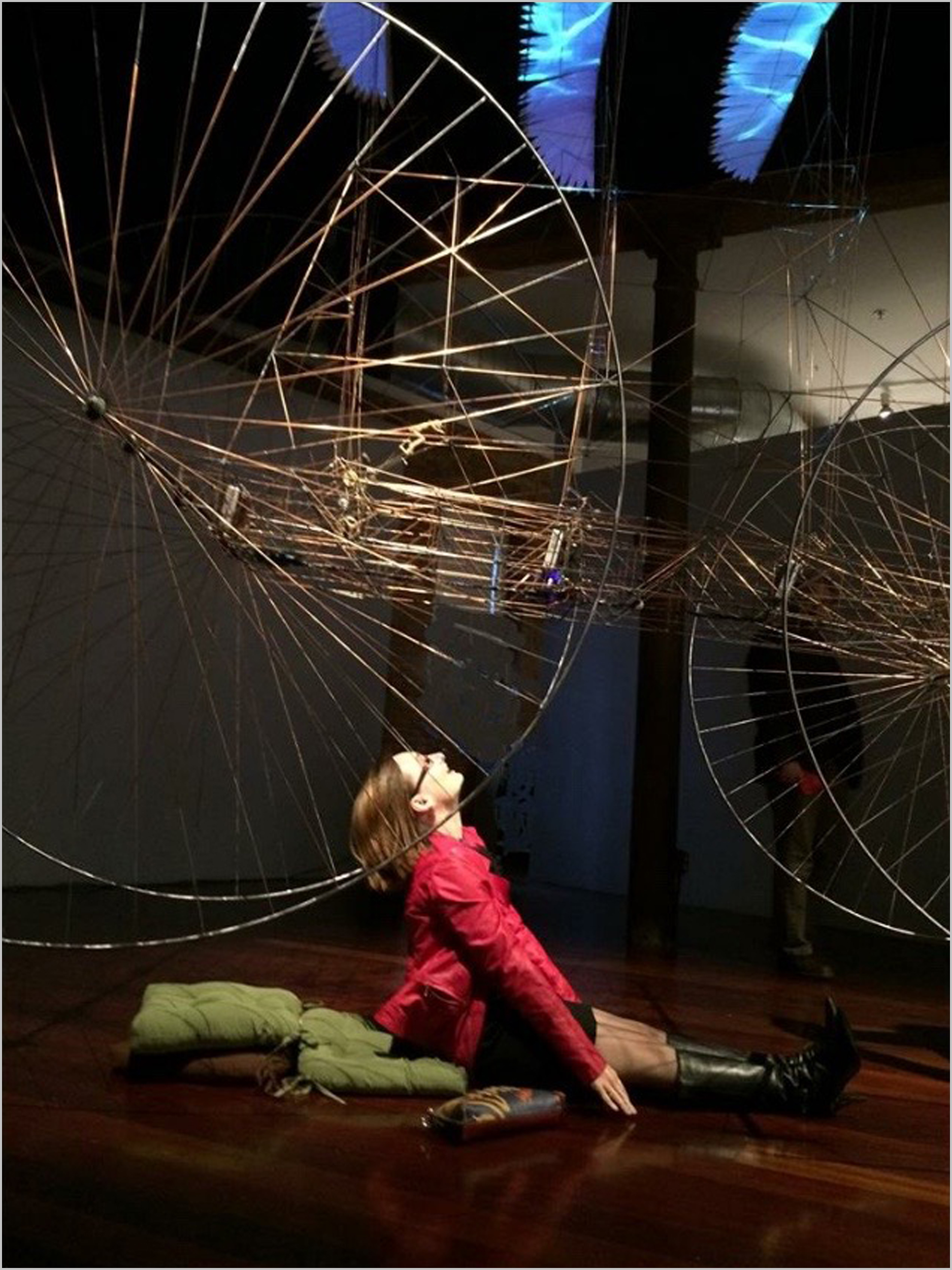 """""""JOURNEY . . ."""" by   David A. Lang,   Interactive Multimedia   Kinetic   Sculpture,   11' x 13' x 4'"""