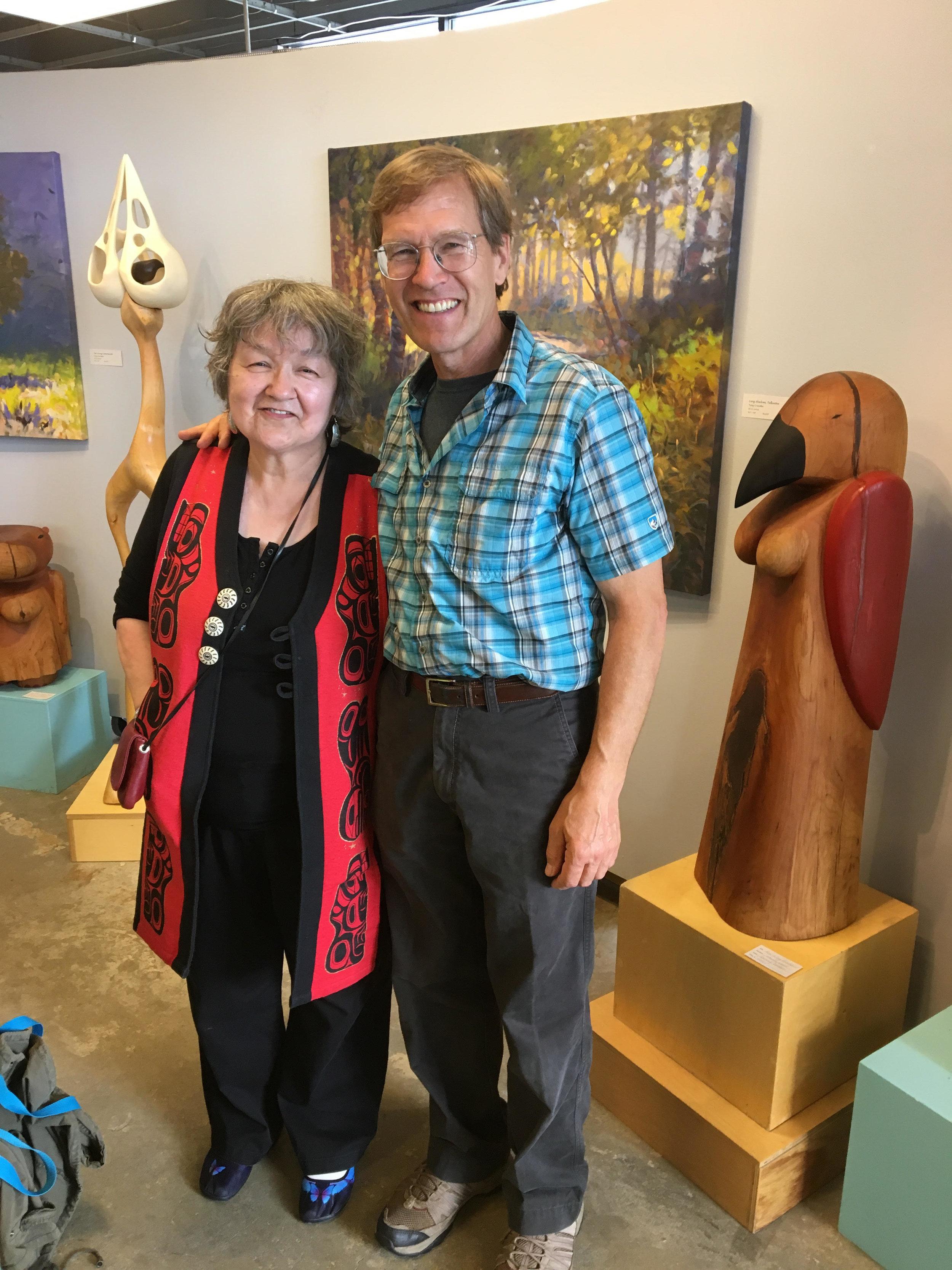 Alaska Writer Laureate Ernestine Hayes with Andy Moerlein