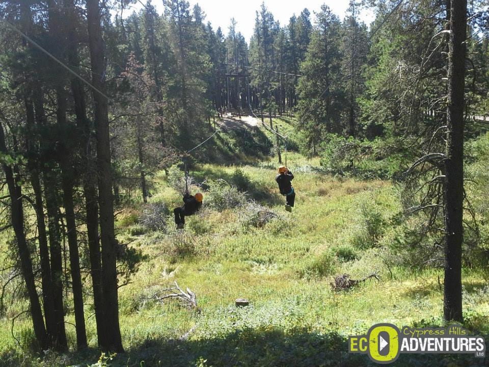 Ziplining at Cypress Hills