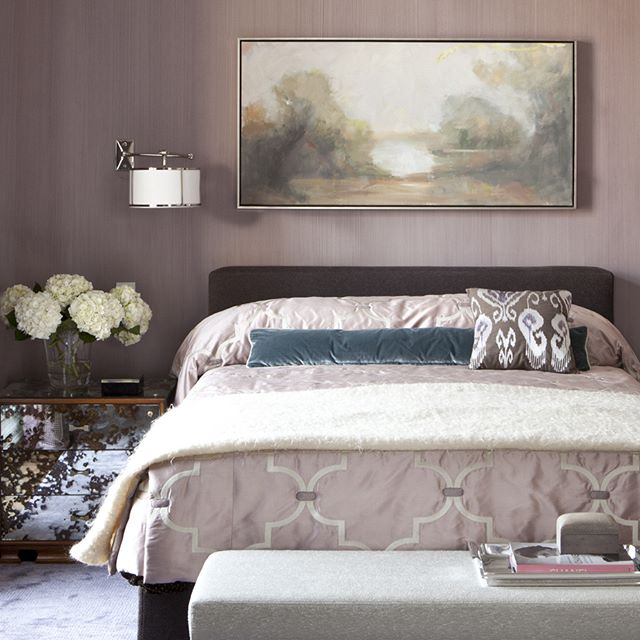 Lovely shades of purple fill our client's master bedroom #dineenarchitecture . . . . . . . . . . . .#interiordesign #interiordecor #interiorstyling #interior4all #interior123 #interiorinspiration #interiorinspo #interiorandhome #interiorstyle #interiordecorating#interior_and_living #interiorforinspo #interior2you #interiorforyou #interiordetails #interiorwarrior #interiorlovers #interior4you #passionforinterior #interiordesire #chicinterior #chicinteriors #highenddesign #designerrooms #chicdesign