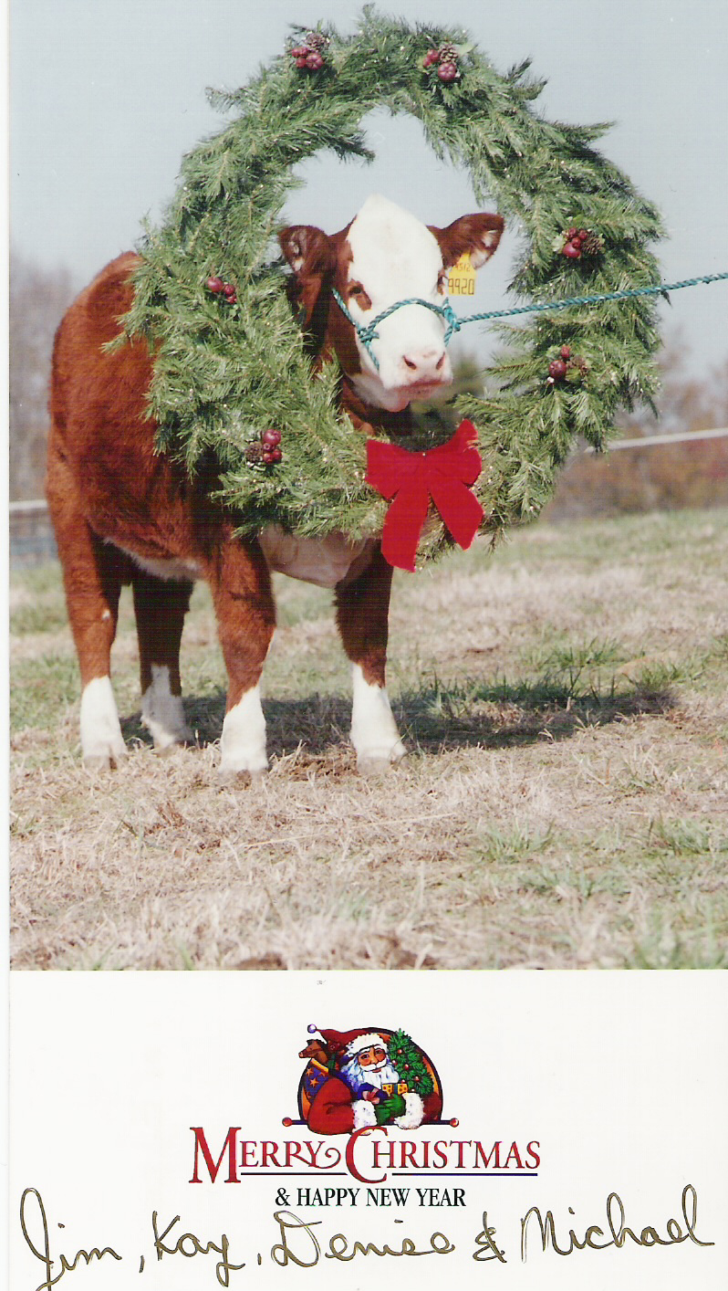 Coley Christmas card 2000