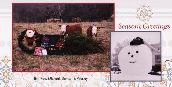 Coley Christmas card 2009