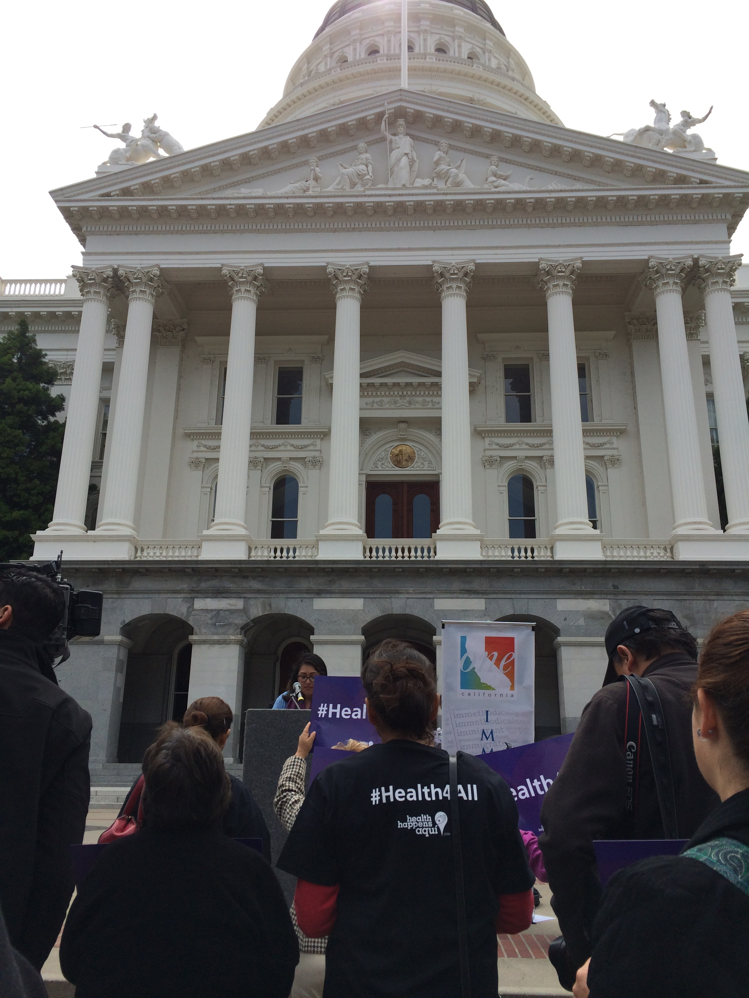 Pangea staff and volunteers with partners at Immigrant Day in Sacramento, CA (2015)