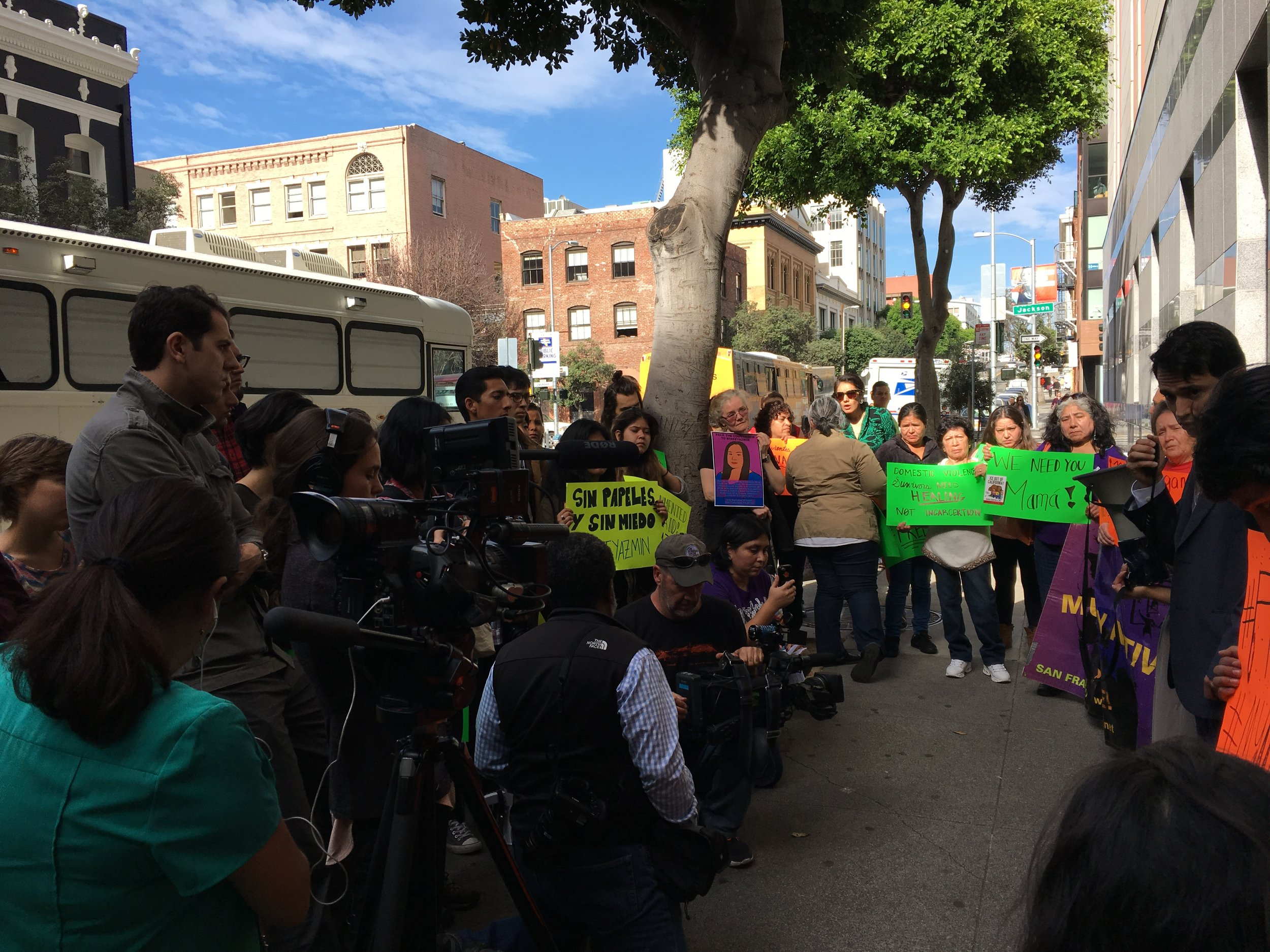 Previous rally for Yazmin (San Francisco, Nov. 10, 2016)