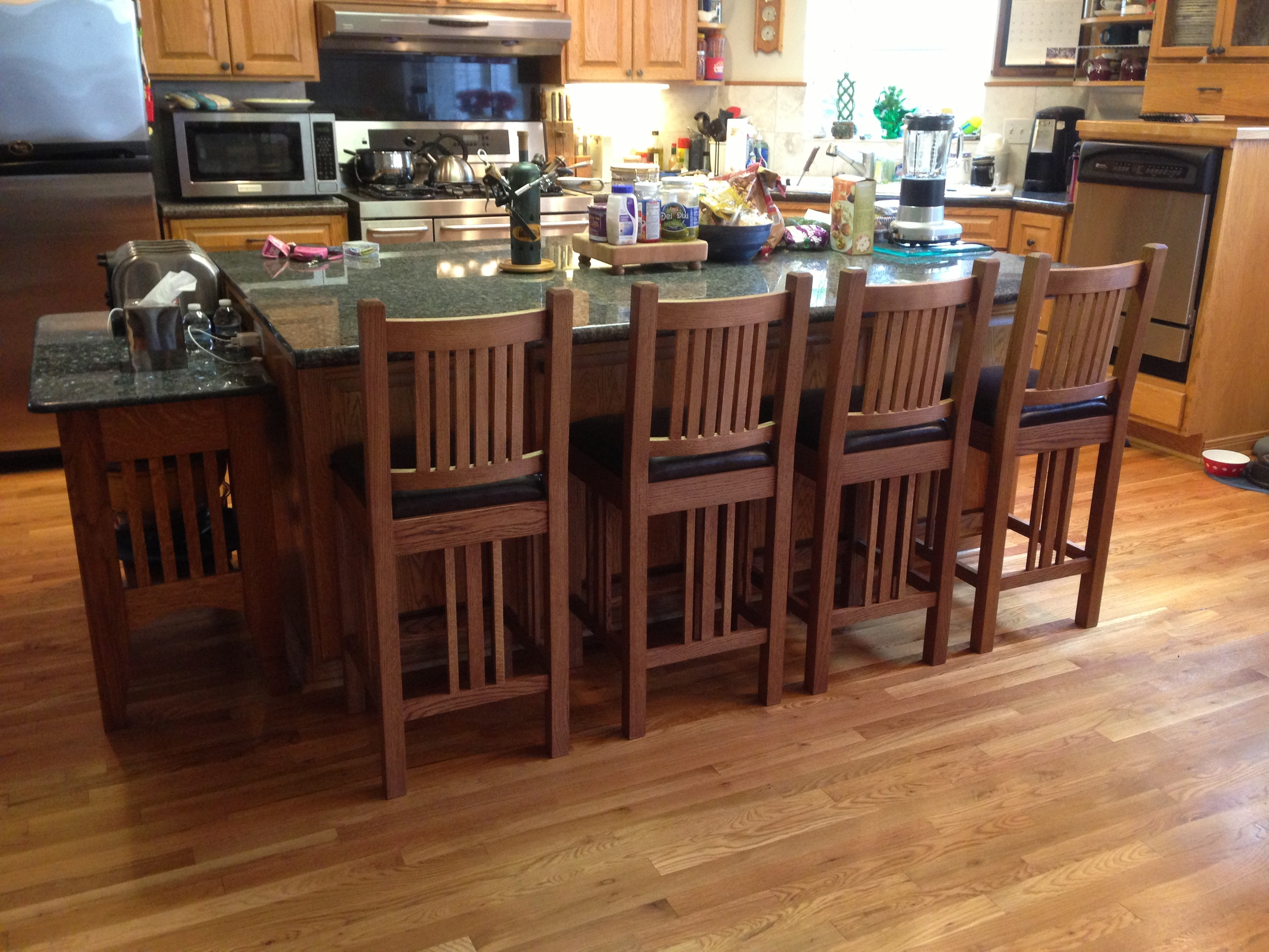 Mission Bar Stools - Click photo to see design and build in the shop.