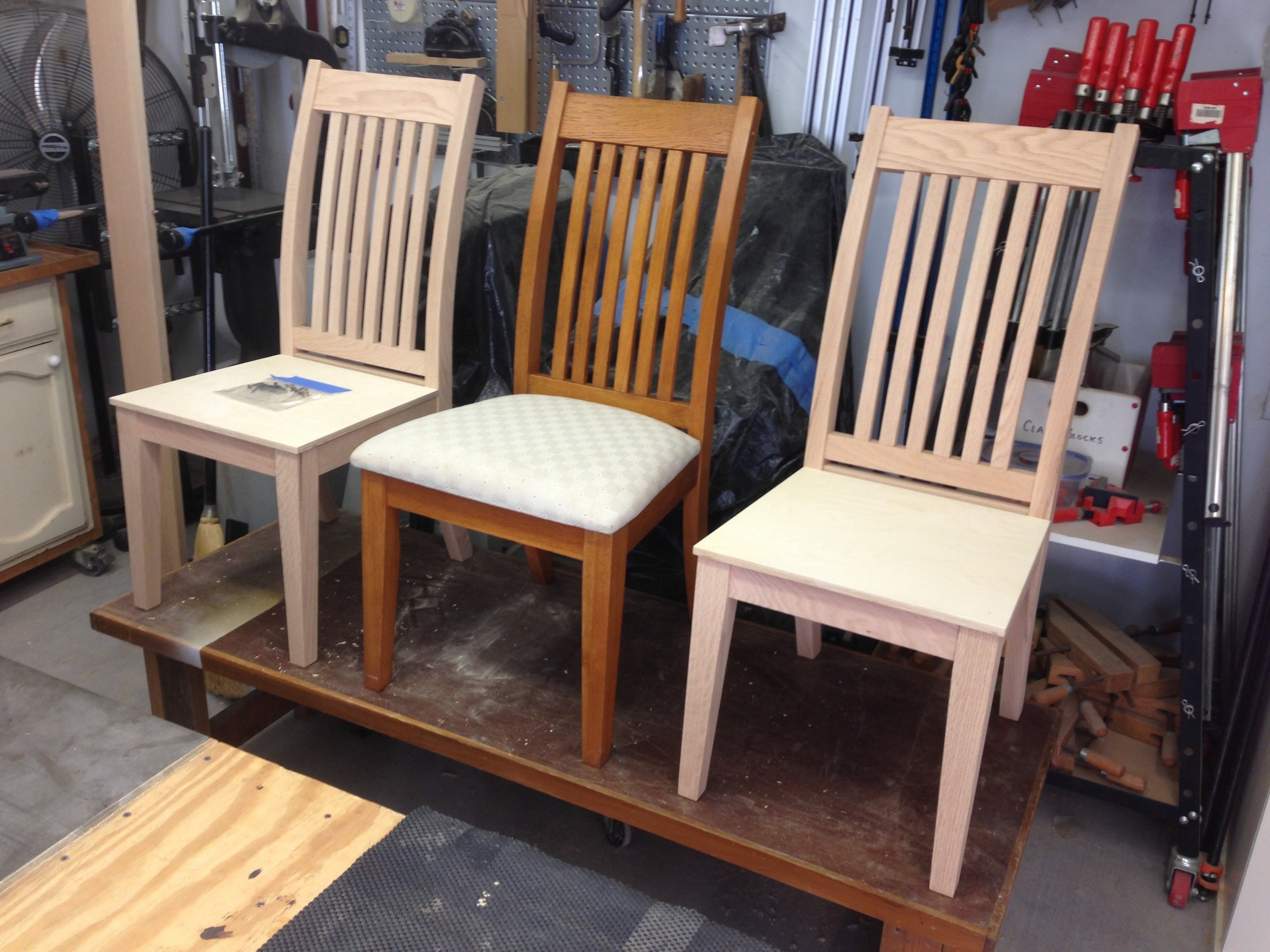 Chair Reproductions - Click photo to see design and build in the shop.