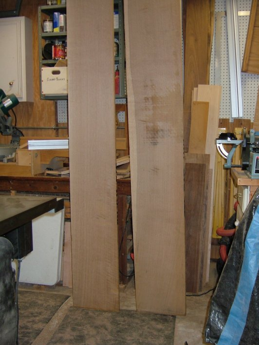 Rough cut quarter sawn white oak purchased and ready for milling to project specs.