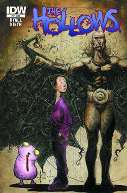 The Hollows #1, cover art by Sam Kieth. Sam Kieth & Chris Ryall/IDW Publishing.