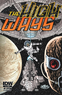 The High Ways #1, cover art by John Byrne. John Byrne/IDW Publishing.