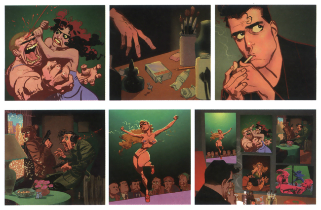 Panel sequence from  You Are Here by Kyle Baker.