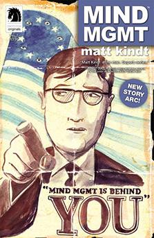 Cover to  Mind MGMT  #7, art by Matt Kindt. Matt Kindt/Dark Horse Comics.