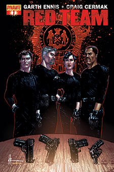 Variant cover for  Red Team  #1, art by Howard Chaykin. Garth Ennis/Dynamite.