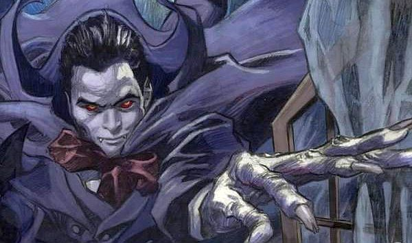 Cover detail to the 2005 collected edition of  The Curse of Dracula , art by Gene Colan. Wolfman & Colan/Dark Horse Comics.