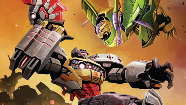 Cover detail from  Transformers: Prime  #4, art by Ken Christianssen. Hasbro/IDW Publishing.