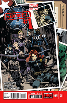 Cover to  Secret Avengers  #1, art by Tom Coker. Marvel Comics.
