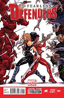 Covert art for  Fearless Defenders  #1, art by Mark Brooks. Marvel Comics.