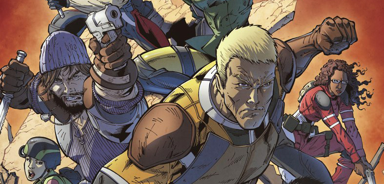 Cover detail from  G.I. Joe  #1, art by Steve Kurth. Hasbro/IDW Publsihing.
