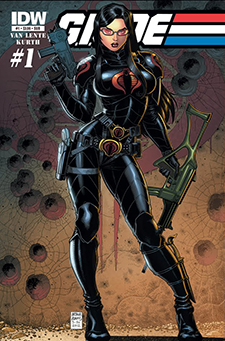 Variant cover to  G.I. Joe  #1, art by Art Adams. Hasbro/IDW Publishing.