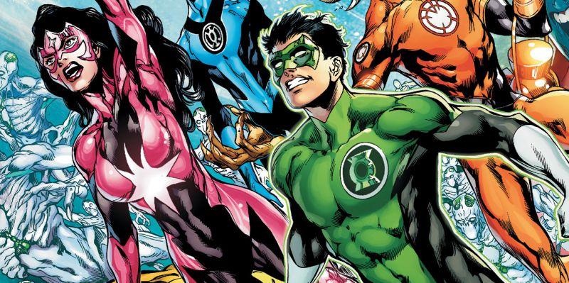 Cover detail from  Green Lantern: New Guardians  #13, art by Ivan Reis. DC Comics.