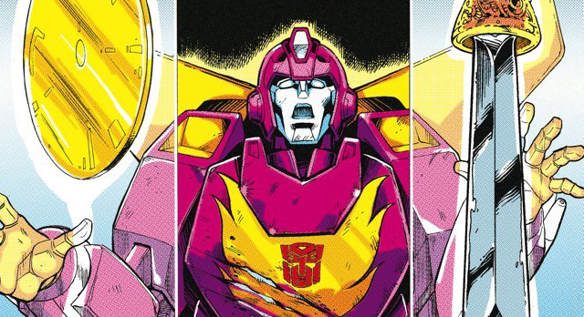 Variant cover detail to  Transformers: Regeneration One  #89, art by Guido Guidi. Hasbro/IDW Publishing.