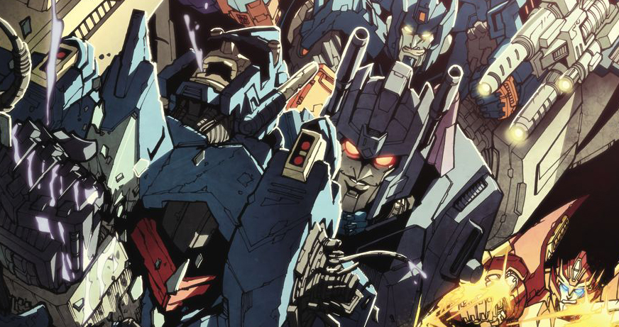 Cover detail to Transformers: More Than Meets the Eye #15, art by Alex Milne. Hasbro/IDW Publishing.