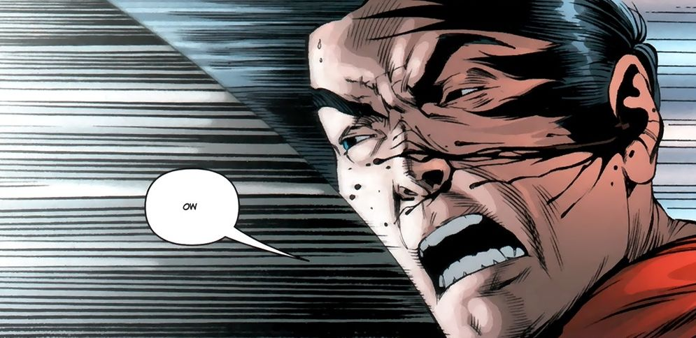 Panel detail from  Action Comics  #1, art b Rags Morales. DC Comics.