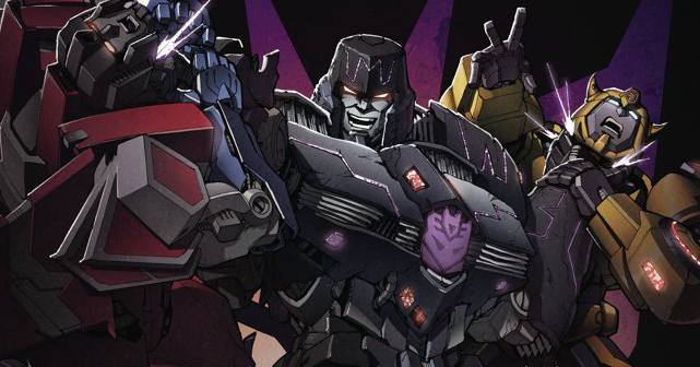 Variant cover detail for  Transformers: Robots In Disguise  #15, art by Casey Coller. Hasbro/IDW Publishing.