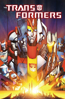 Cover art for  Transformers: More Than Meets the Eye  Vol. 3 collected trade paperback. Hasbro/IDW Publishing.