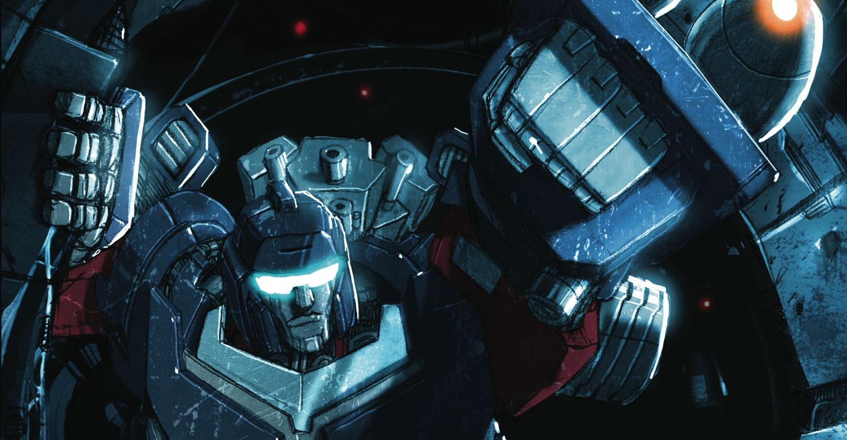 Variant cover detail to  Transformers Spotlight: Trailcutter , art byLivio Ramondelli. Hasbro/IDW Publishing.