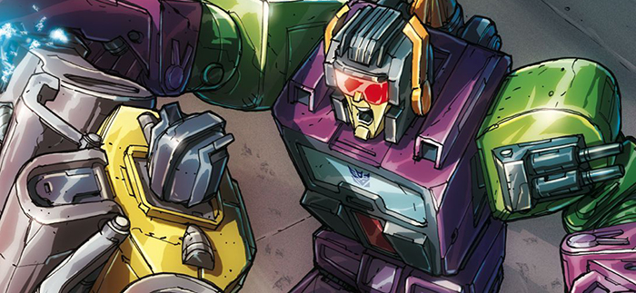 Cover detail for  Transformers: Regeneration One  #90. Hasbro/IDW Publishing.