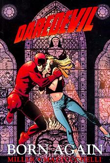 Cover for  Daredevil: Born Again  TPB, art by David Mazzucchelli. Marvel Comics.