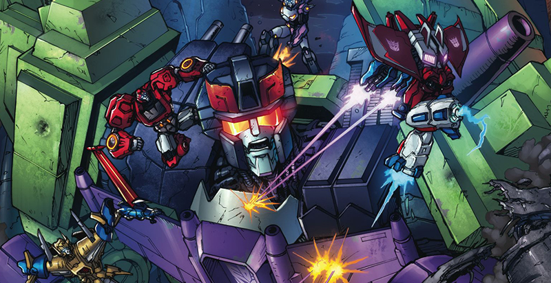 Cover detail from  Transformers: Robots in Disguise  #16. Hasbro/IDW.