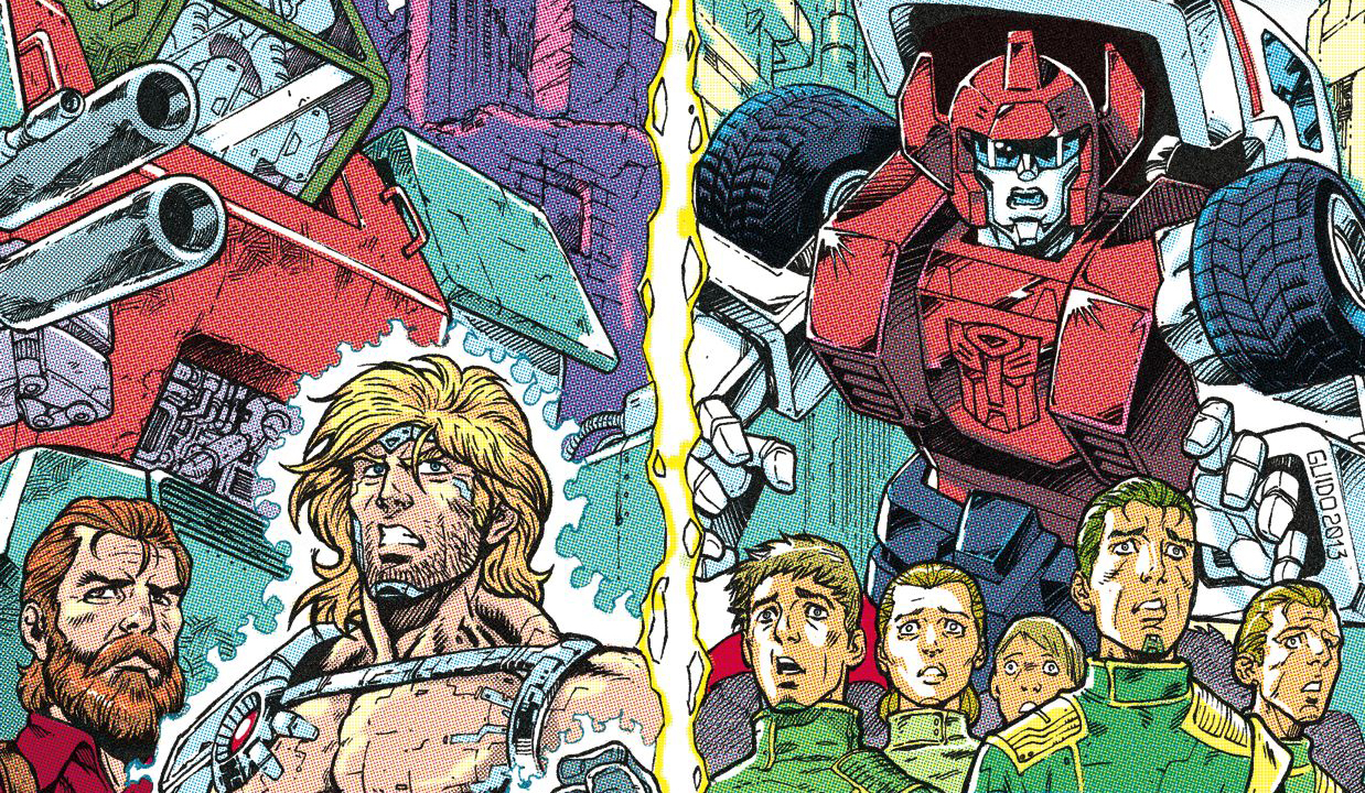 Variant cover detail for Transformers: Regeneration One #91. Hasbro/IDW.