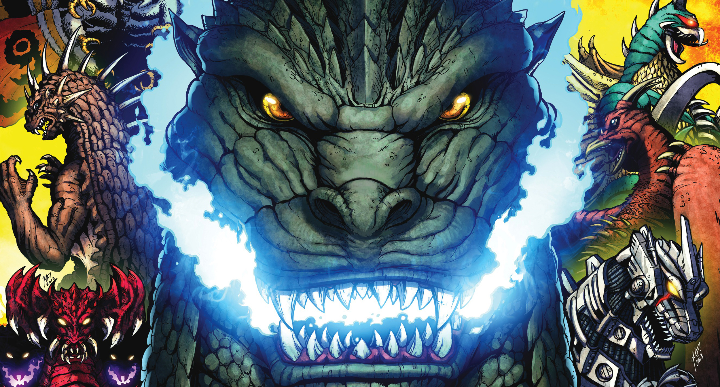 Cover detail from Godzilla: Rulers of the Earth #1, art by Matt Frank. IDW Publishing.