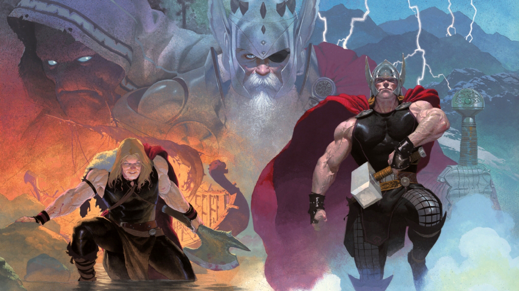 Cover art from Thor: God of Thunder. Art by Esad Ribic. Marvel Comics.
